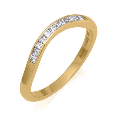 Deco Sweep - Half Eternity Fitted Band - CRED Jewellery - Fairtrade Jewellery - 3
