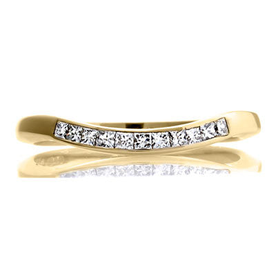 Deco Sweep - Half Eternity Fitted Band - CRED Jewellery - Fairtrade Jewellery - 4