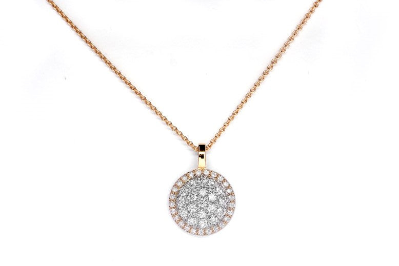 Lab-Grown Diamond Rose Gold Halo Pendant
