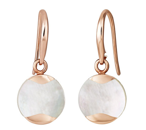 Jersey Pearl Rose Gold Dune Drop Earrings