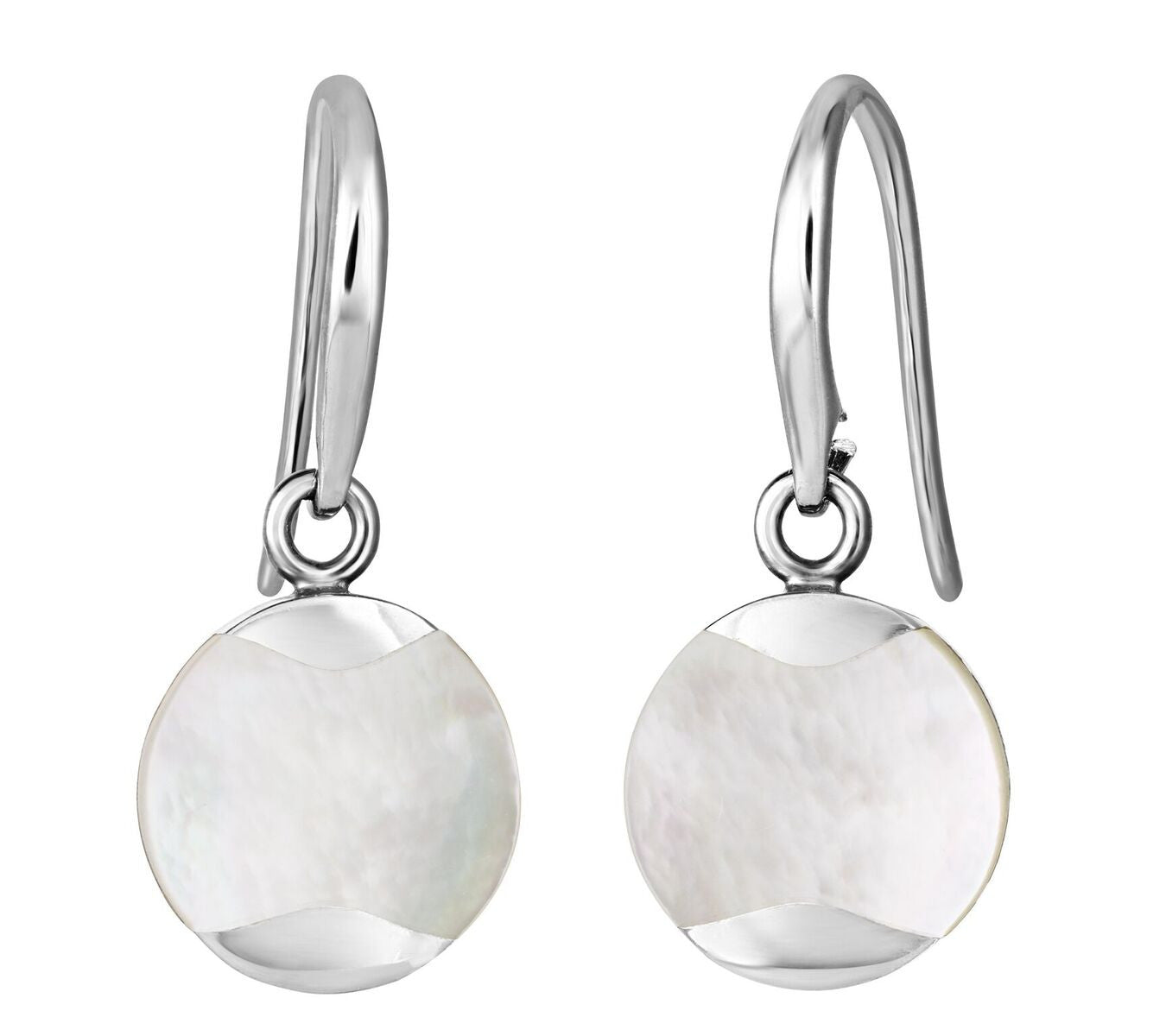 Jersey Pearl Silver Dune Drop Earrings