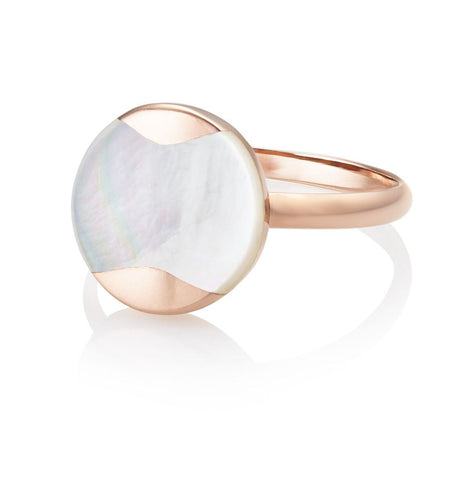 Jersey Pearl Rose Gold Dune Ring