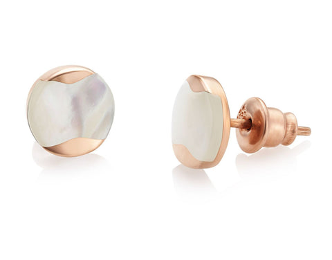 Jersey Pearl Rose Gold Earrings