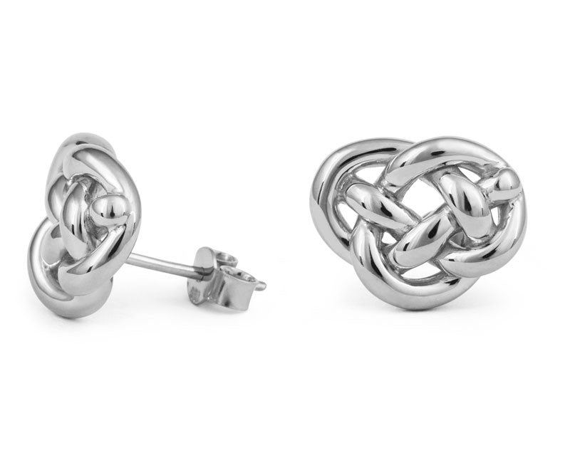 Love Knot Stud Earrings - CRED Jewellery - Fairtrade Jewellery - 1