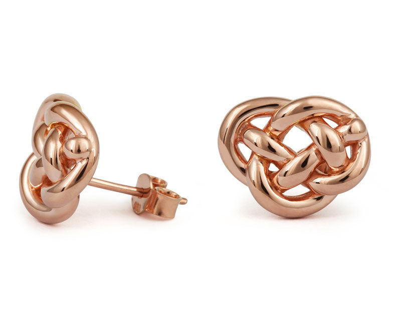 Love Knot Stud Earrings - CRED Jewellery - Fairtrade Jewellery - 2