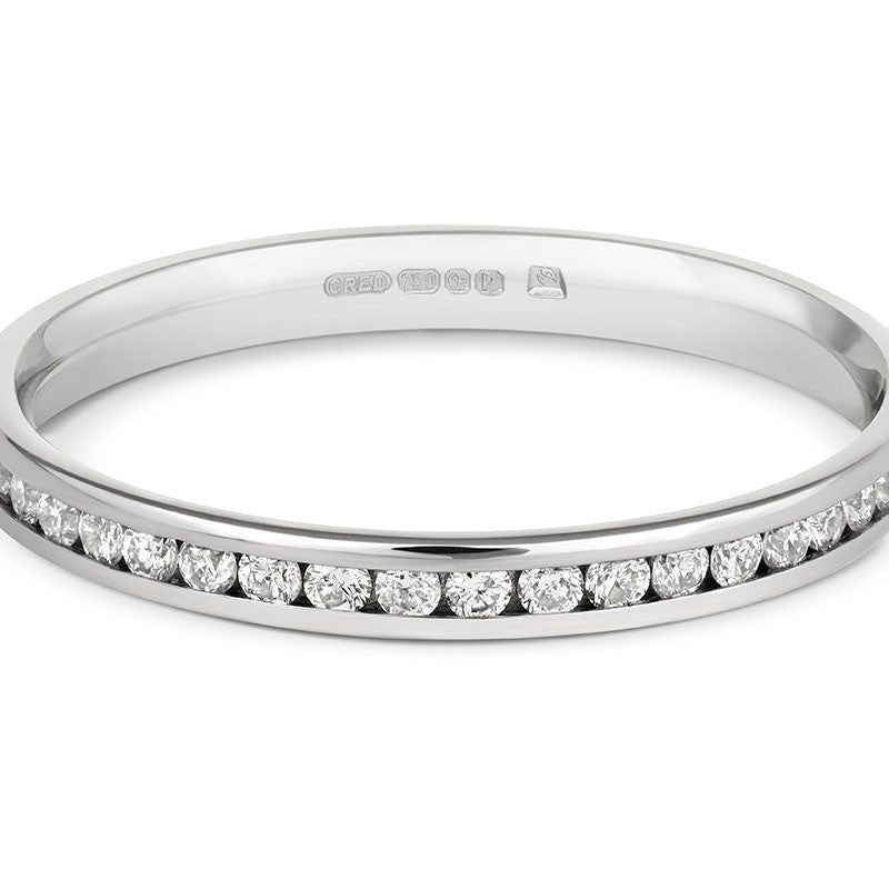 Delicate Channel Set Diamond Half Eternity - CRED Jewellery - Fairtrade Jewellery - 2