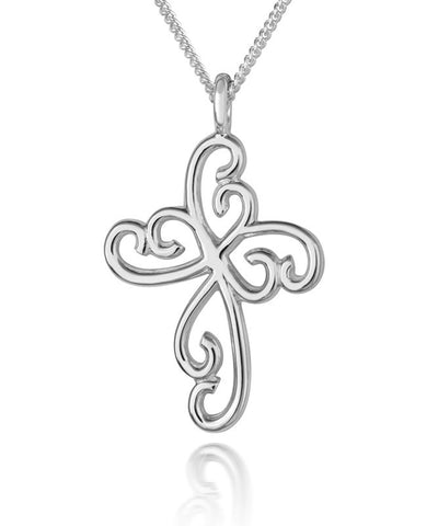 Delicate Lace Cross Pendant