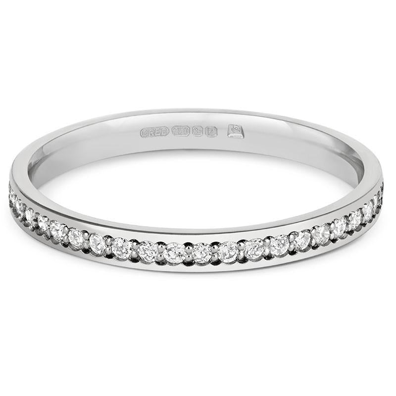 Delicate Pave Diamond Half Eternity/Wedding Ring - CRED Jewellery - Fairtrade Jewellery - 2