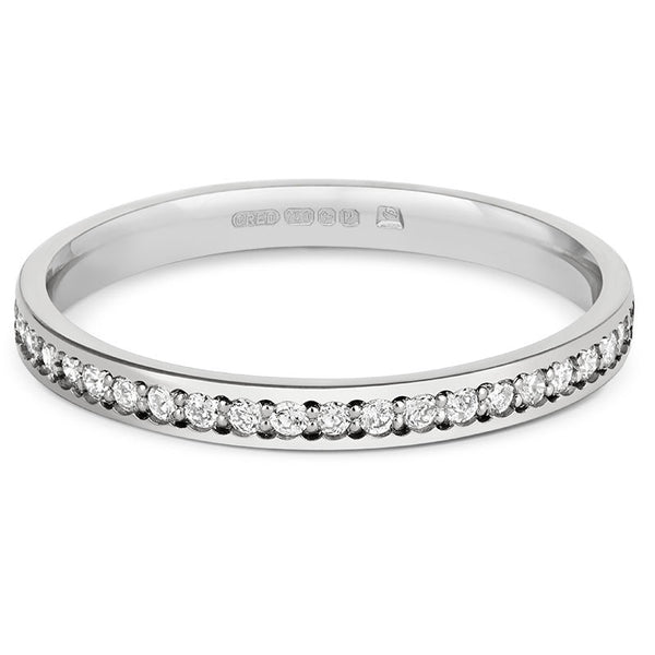 Delicate Pave Diamond Half Eternity Ring - CRED Jewellery - Fairtrade Jewellery - 2