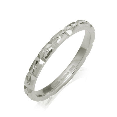Diamond Cut Wedding Band - CRED Jewellery - Fairtrade Jewellery - 1