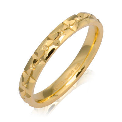 Diamond Cut Wedding Band - CRED Jewellery - Fairtrade Jewellery - 5