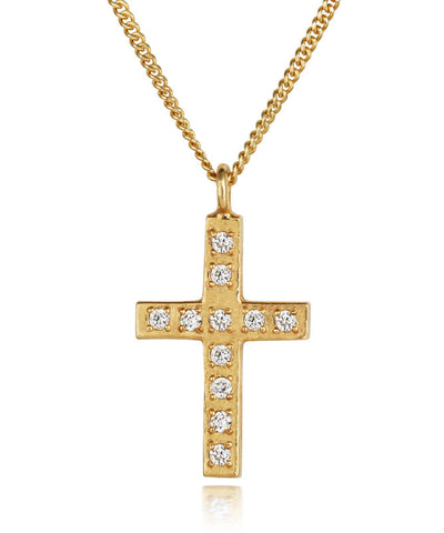 Classic Diamond-set Cross Pendant