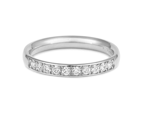 Double Pave Diamond Set Half Eternity - CRED Jewellery - Fairtrade Jewellery - 2