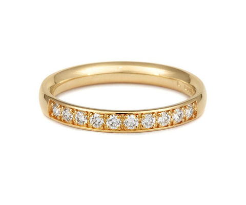 Double Pave Lab Grown Diamond Set Half Eternity/Wedding Ring - (18ct) Yellow, White or Rose gold
