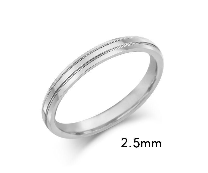 Beaded Edge Wedding Ring - CRED Jewellery - Fairtrade Jewellery - 4