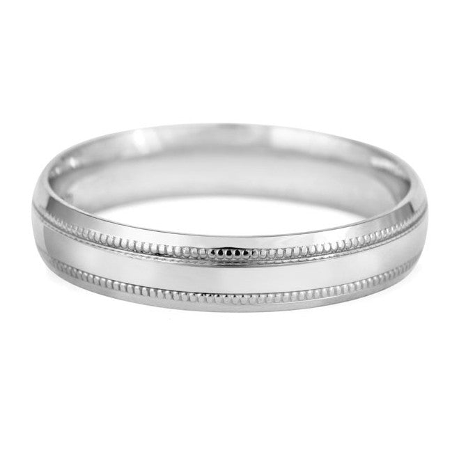 Beaded Edge Wedding Ring - CRED Jewellery - Fairtrade Jewellery - 6