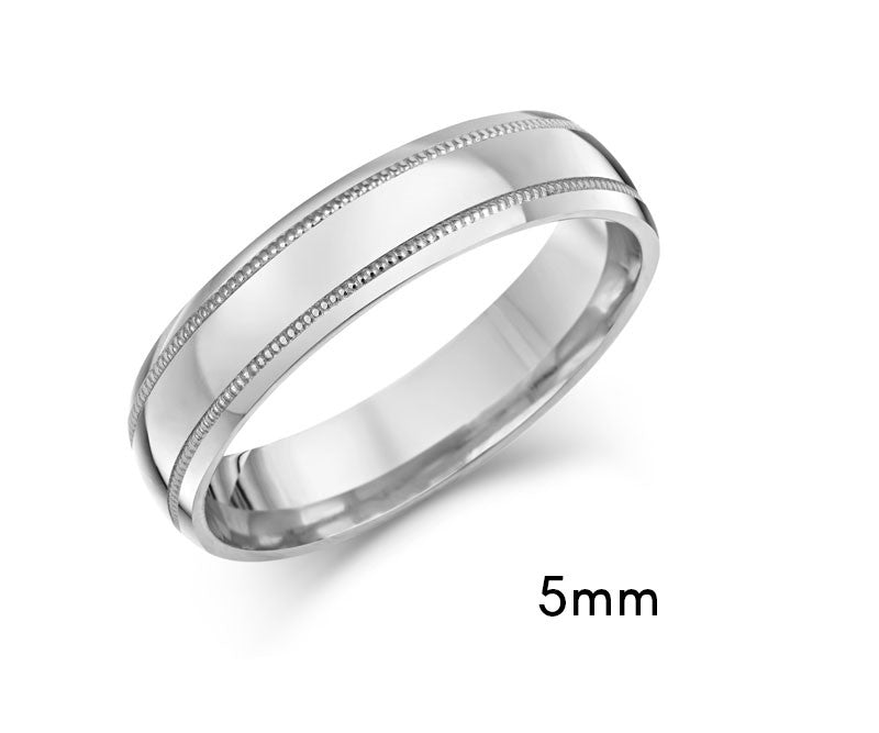 Beaded Edge Wedding Ring - CRED Jewellery - Fairtrade Jewellery - 5