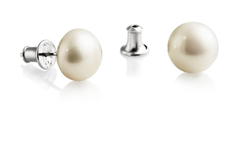 Jersey Pearl Large (10.5mm) White Studs
