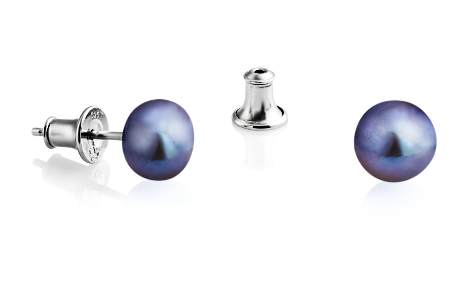 Jersey Pearl Peacock Stud (8.5mm) Earrings