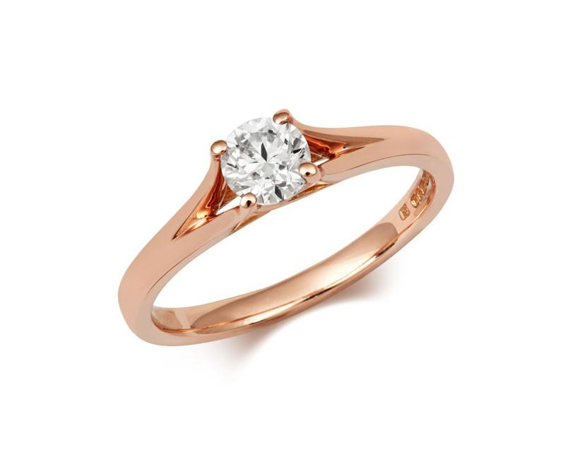 Brilliant Cut Enfold Ethical Solitaire 1ct Diamond Engagement Ring