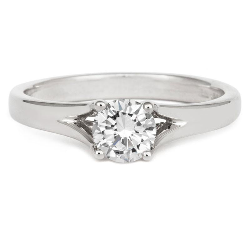 Brilliant Enfold Solitaire Ring - CRED Jewellery - Fairtrade Jewellery - 2