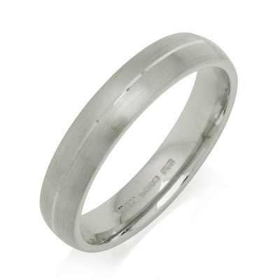 Engraved Court Wedding Ring - CRED Jewellery - Fairtrade Jewellery - 1