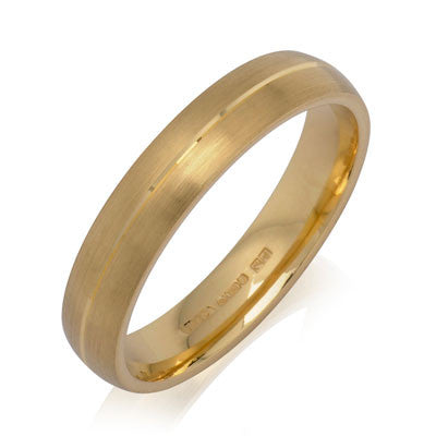 Engraved Court Wedding Ring - CRED Jewellery - Fairtrade Jewellery - 2