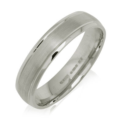Outer Engraved Court Wedding Ring with Dual-Tone Finish - CRED Jewellery - Fairtrade Jewellery - 2