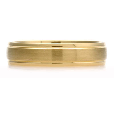 Outer Engraved Court Wedding Ring with Dual-Tone Finish - CRED Jewellery - Fairtrade Jewellery - 3
