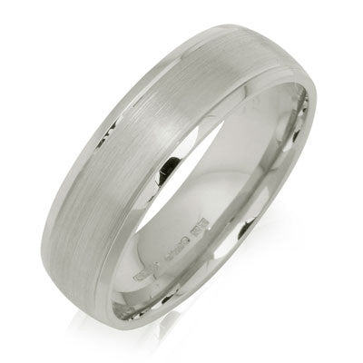 Outer Engraved Court Wedding Ring with Dual-Tone Finish - CRED Jewellery - Fairtrade Jewellery - 4
