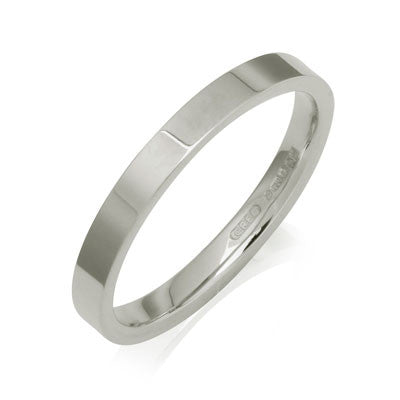Flat Court Wedding Ring- Yellow or White Gold (18ct) or Platinum - CRED Jewellery - Fairtrade Jewellery - 3
