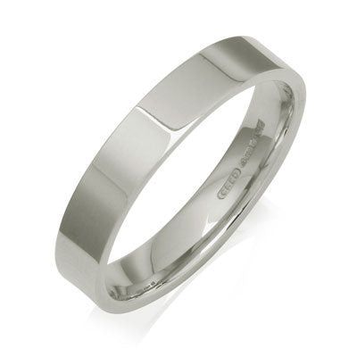 Flat Court Wedding Ring- Yellow or White Gold (18ct) or Platinum - CRED Jewellery - Fairtrade Jewellery - 4