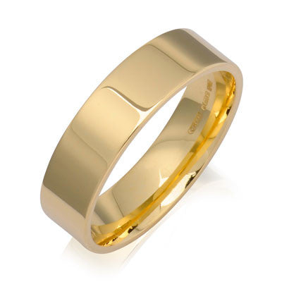 Flat Court Wedding Ring- Yellow or White Gold (18ct) or Platinum - CRED Jewellery - Fairtrade Jewellery - 6