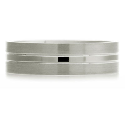 Inner Engraved Flat Court Wedding Ring with Dual-Tone Finish - CRED Jewellery - Fairtrade Jewellery - 2