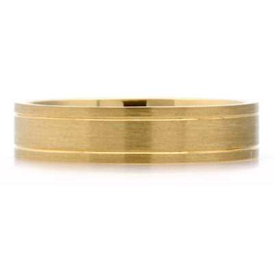 Outer Engraved Flat Court Wedding Ring - CRED Jewellery - Fairtrade Jewellery - 2