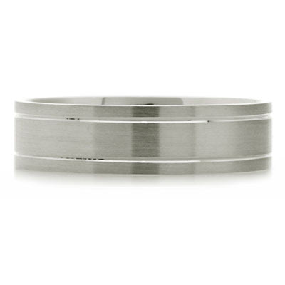 Outer Engraved Flat Court Wedding Ring - CRED Jewellery - Fairtrade Jewellery - 3