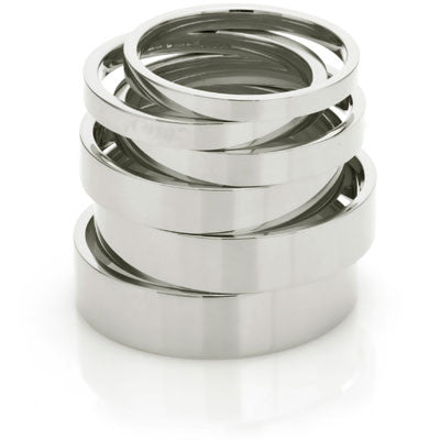 Flat Court Wedding Ring- Yellow or White Gold (18ct) or Platinum - CRED Jewellery - Fairtrade Jewellery - 8