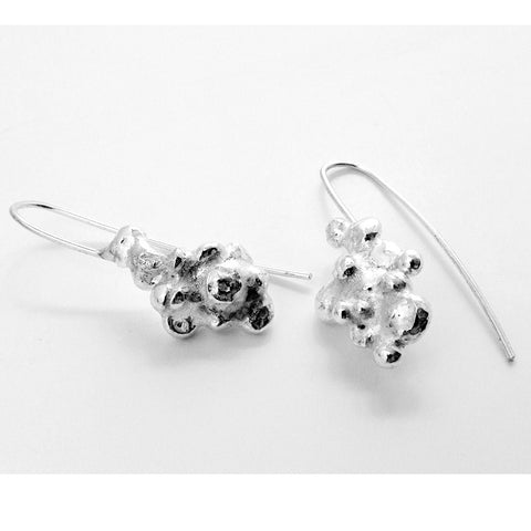 Fairtrade Silver Cluster Drop Earrings