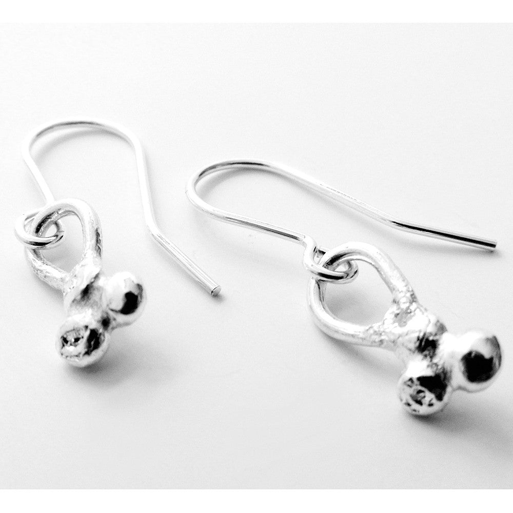 Fairtrade Silver Petite Cluster Drop Earrings - CRED Jewellery - Fairtrade Jewellery