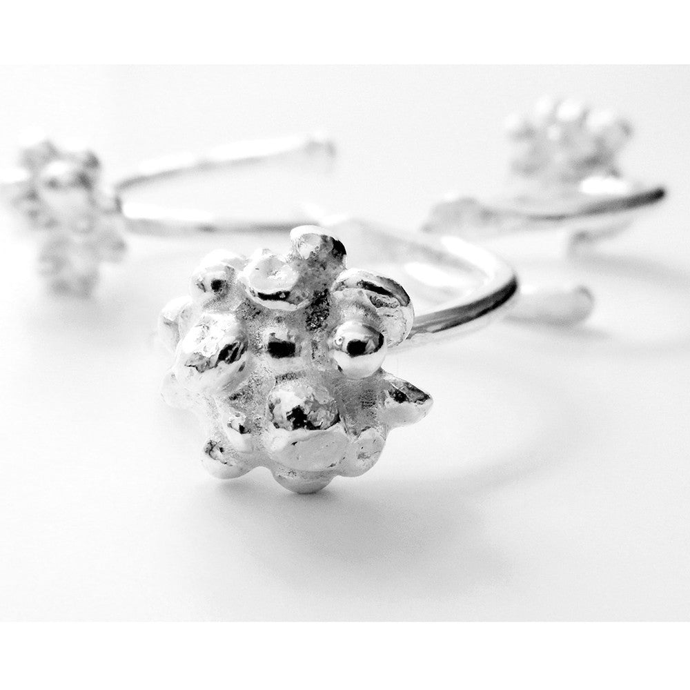 Fairtrade Silver Cluster Ring - CRED Jewellery - Fairtrade Jewellery
