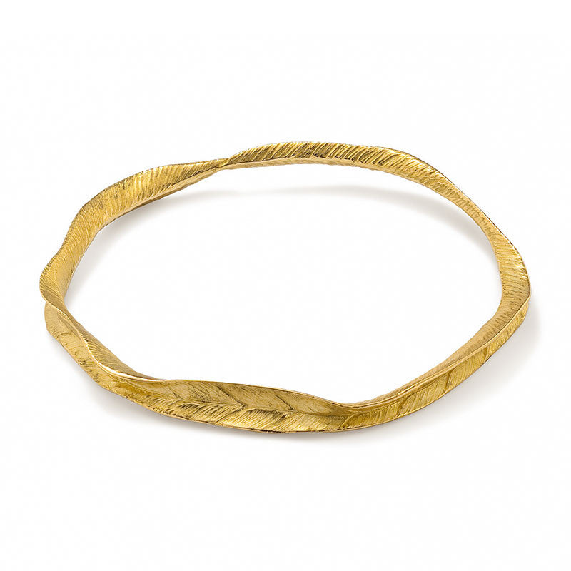 Fallen For You Leafprint Bangle - CRED Jewellery - Fairtrade Jewellery - 2