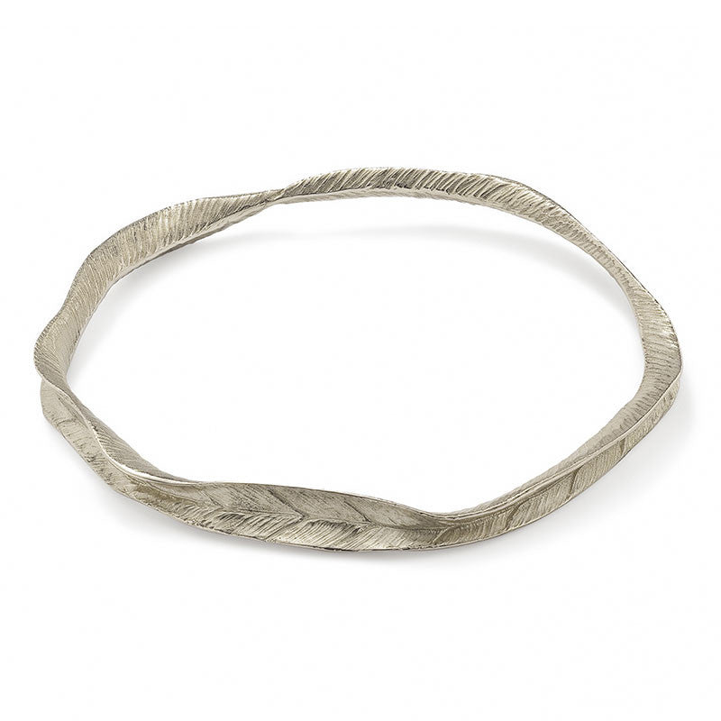 Fallen For You Leafprint Bangle - CRED Jewellery - Fairtrade Jewellery - 1