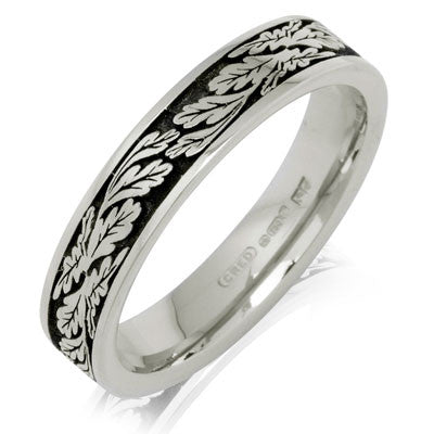 Fern Leaf Wedding Ring - CRED Jewellery - Fairtrade Jewellery - 2