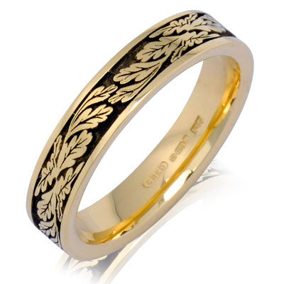 Fern Leaf Wedding Ring - CRED Jewellery - Fairtrade Jewellery - 3