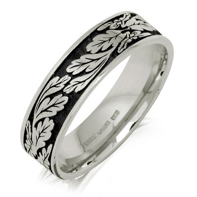 Fern Leaf Wedding Ring - CRED Jewellery - Fairtrade Jewellery - 5