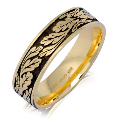 Fern Leaf Wedding Ring - CRED Jewellery - Fairtrade Jewellery - 6