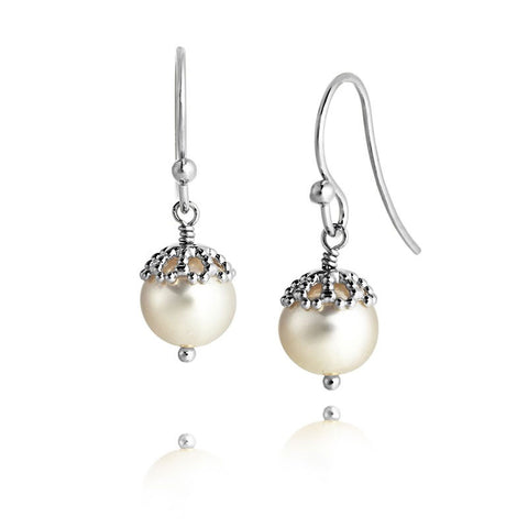 Filigree Pearl Drop Earrings