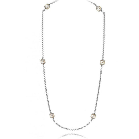 Filigree Long Pearl Necklace