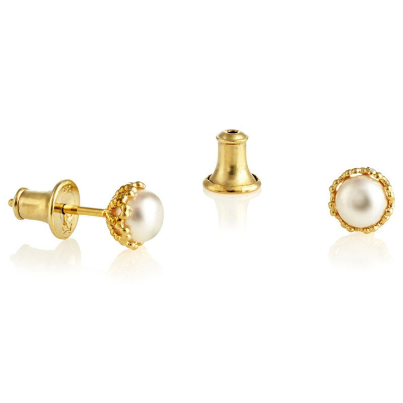 Fligree Pearl Stud Earrings - CRED Jewellery - Fairtrade Jewellery - 2