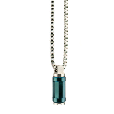 "Pendant Converter with Filter Petrol Bead-Small 18"" Chain"